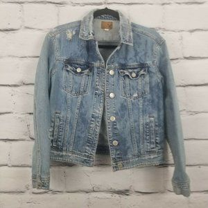 American Eagle Small Light Wash Denim Jean Jaacket